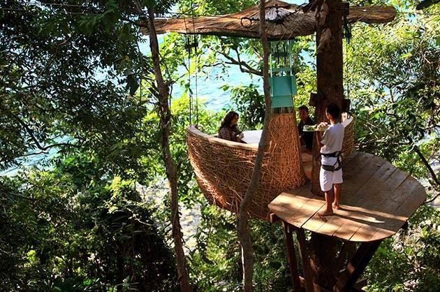 restaurante-suspenso-tailandia-floresta-tropical-resort-de-luxo (Foto: Divulgação/Soneva Kiri)