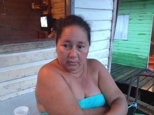 Maria do Socorro Silva, de 46 anos, avó da vítima (Foto: Dyepeson Martins/G1)