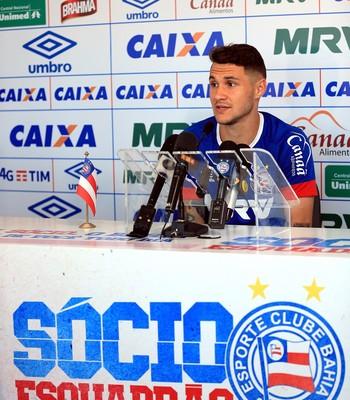 Zagueiro Tiago Bahia (Foto: Felipe Oliveira / Divulgação / E.C. Bahia)