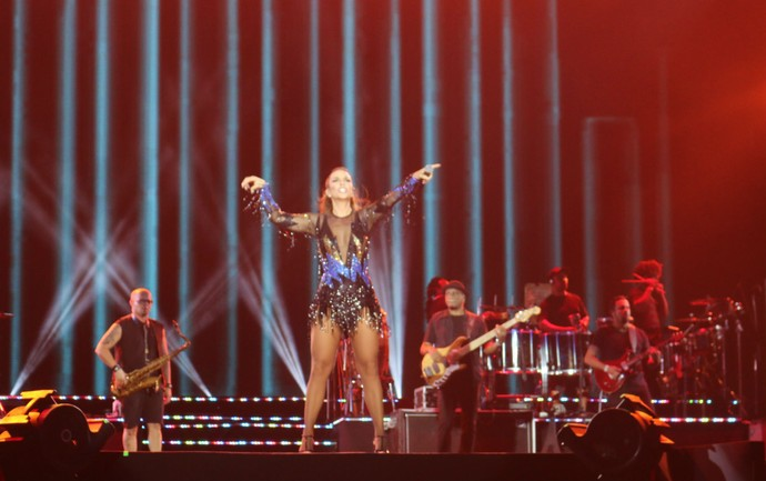 Ivete Sangalo faz show empolgante em Salvador (Foto: Bruno Concha/Ag.Haack)