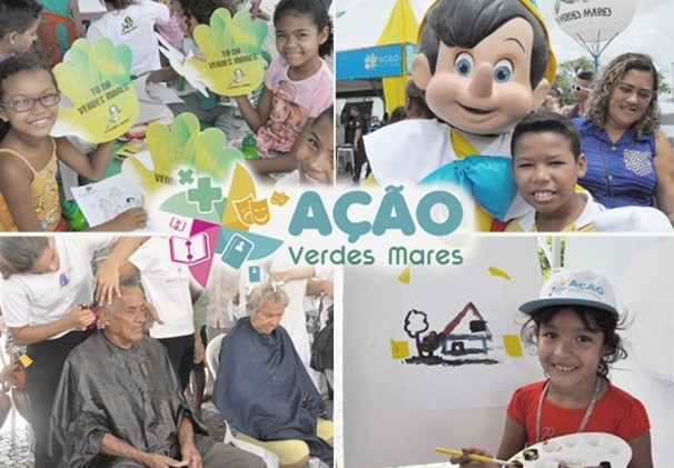 Projeto Ação Verdes Mares leva, mensalmente, atividades socias e serviços para a comunidade. (Foto: Divulgação)
