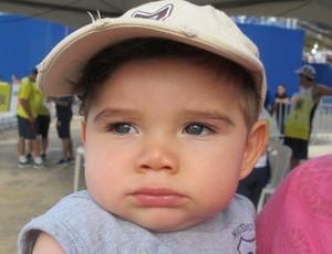 Davi, de sets meses, filho dos jogadores Bruno e Andrezza, do vôlei de raia (Foto: Carol Fontes)