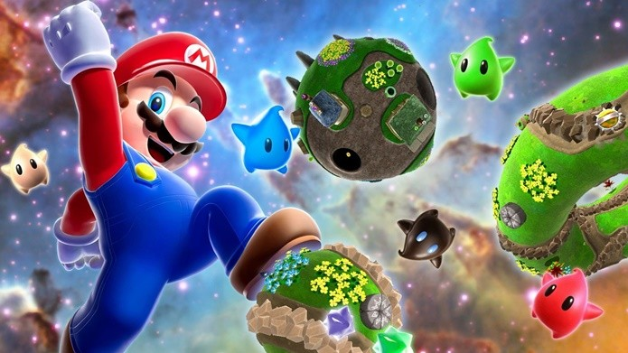 Brincadeiras com a gravidade e movimento são o mote de Super Mario Galaxy (Foto: Divulgação/Nintendo)