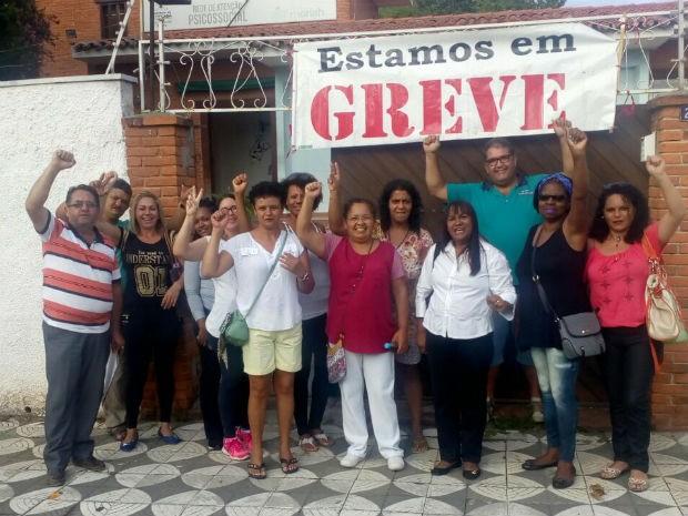 Trabalhadores do CAPS também aderiram à paralisação (Foto: SinSaúde/Divulgação)