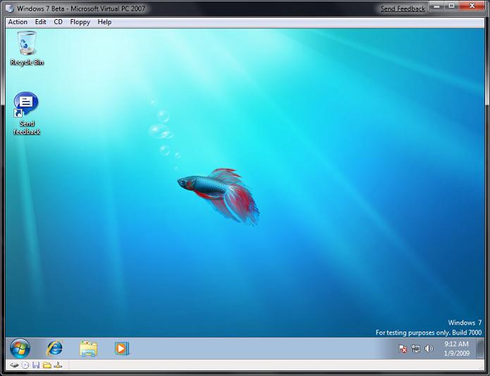 Virtual PC no Windows 7 rodando o mesmo sistema (Foto: Divulgação/Microsoft)