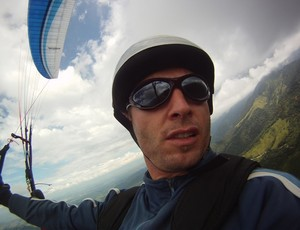 Andre Brueckner, praticante de voo livre em Visconde de Mauá (Foto: Andre Brueckner/Arquivo Pessoal)