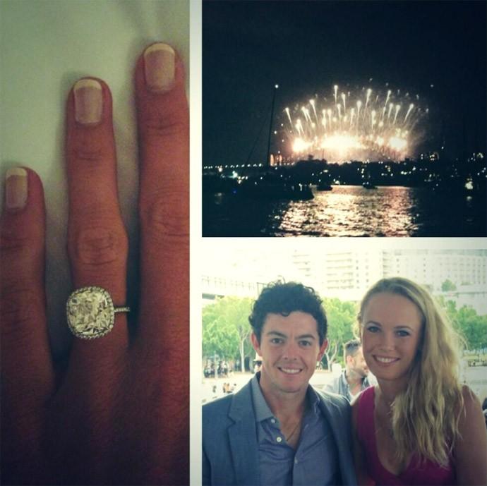 Caroline Wozniacki e Rory McIlroy ficam noivos (Foto: Reprodução / Twitter)