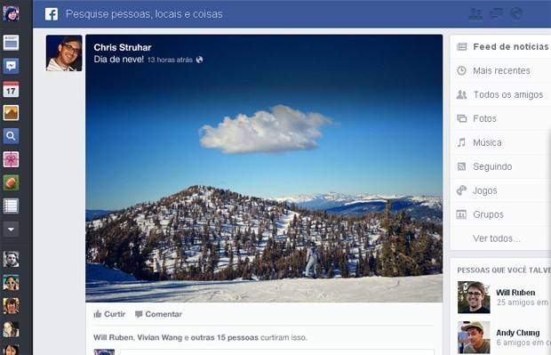 Facebook anuncia mudan&#231;as no visual, que inclui imagens maiores (Foto: Reprodu&#231;&#227;o)
