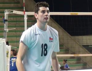 Giancarlo, vôlei Chile - Sul-Americano Maceió (Foto: Estéfane Padilha/ GloboEsporte.com)