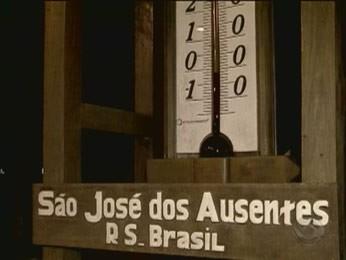 Termômetro marca temperatura baixa na Serra (Foto: Reprodução/RBS TV)