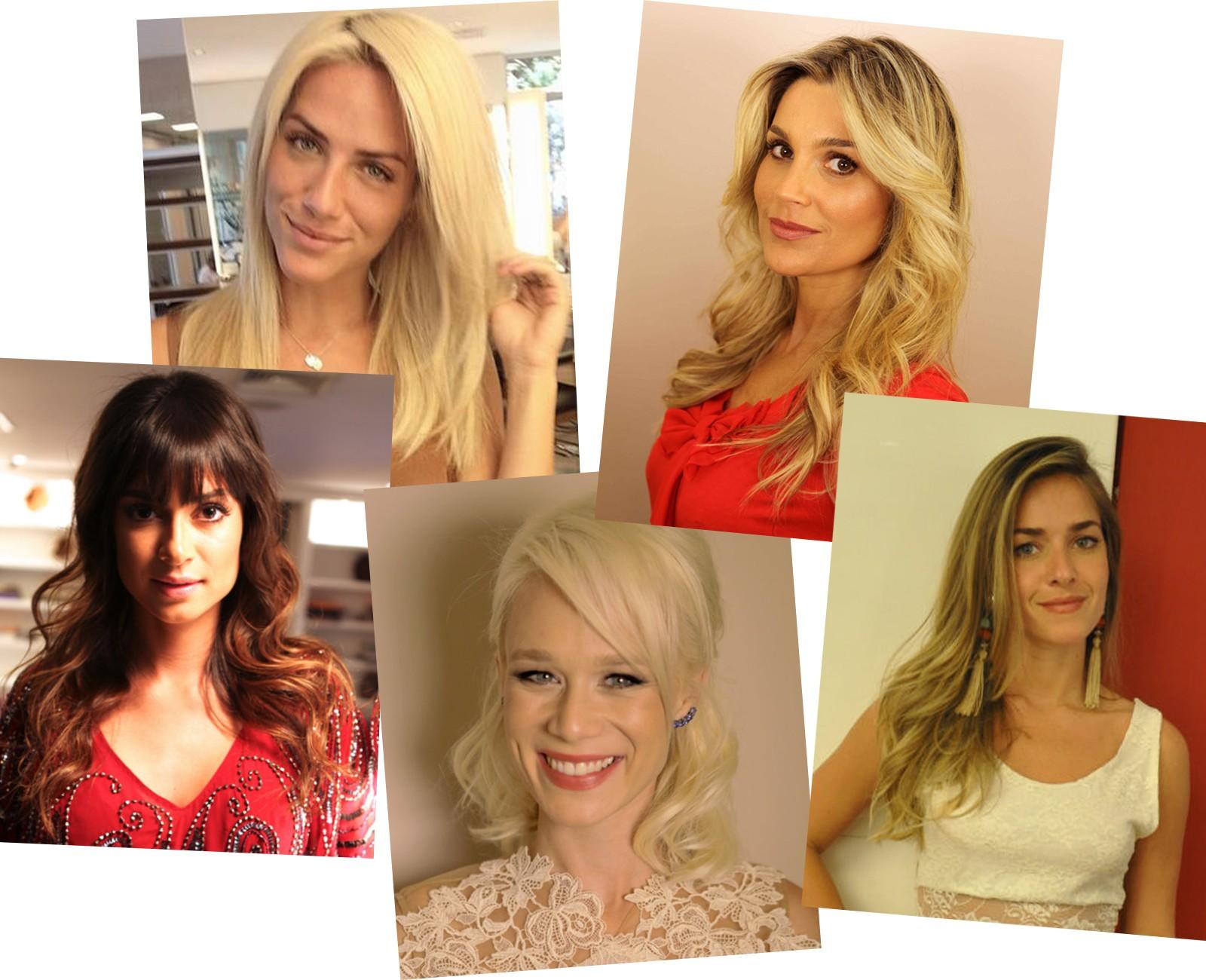 Marcos Proença revela os segredos dos cabelos das atrizes (Foto: Reprodução)