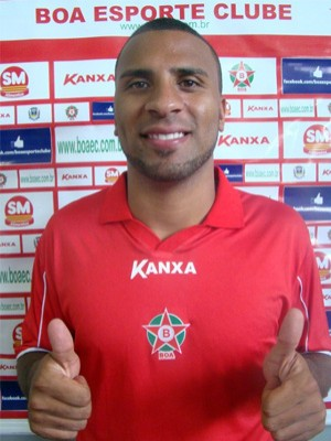Atacante Nilson, do Boa Esporte (Foto: Assessoria Boa Esporte / Edimar Mariano)