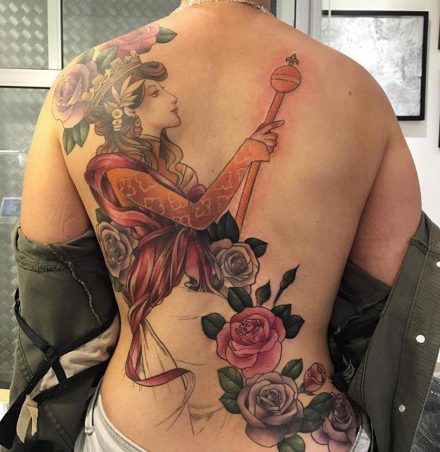 Tatuagem feita por Luiza Fortes (Foto: Reprodução)