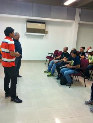 Reunião da Rede Amazônica (Foto: Paulo Rogério/GLOBOESPORTE.COM)