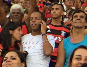 Rafael exibe todo o prazer sentido no gol de Guerrero (Foto: Fred Gomes)