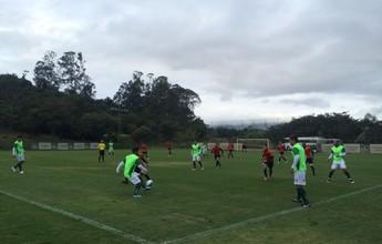 Caldense empata jogo-treino contra o Bragantino em Atibaia, SP