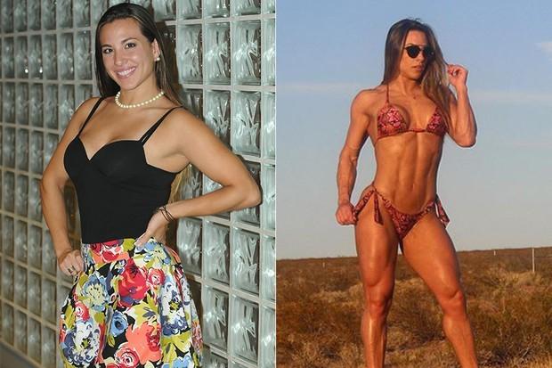 Michelly Crisfepe emagreceu e hoje mostra corpo definido e malhado em eventos de ginástica (Foto: TV Globo/Divulgação/Reprodução)