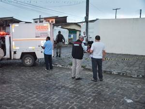 Homicídio ocorreu no bairro Treze de Maio, em João Pessoa  (Foto: Walter Paparazzo/G1)