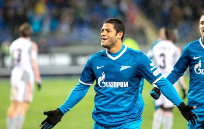 Hulk jogo Zenit e Ural (Foto: Divulgação / Site Oficial do Zenit)