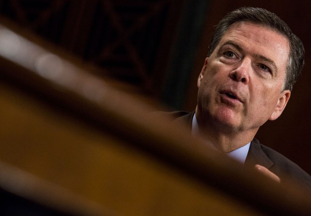 O diretor do FBI James Comey (Foto: Zach Gibson/Getty Images)