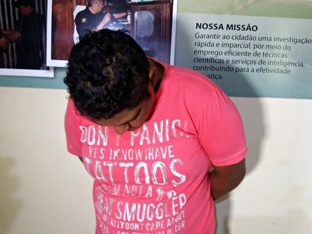 Preso é apontado como autor de tentativa de homicídio  (Foto: Iryá Rodrigues/G1)