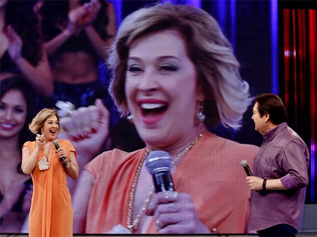 Vidente comemora os tempos áureos no Domingão do Faustão (Foto: Inácio Moraes/ TV Globo)