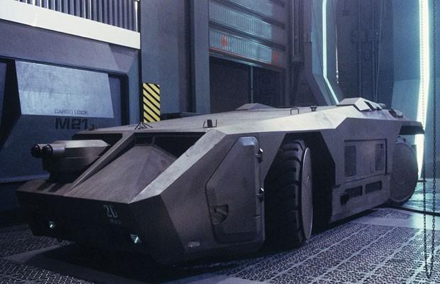 M577 foi o tanque futurista de Aliens (1986), criado sobre um rebocador de aeroporto (Foto: Divulgação)