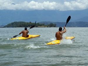 Canoagem atraiu atletas à Praia da Enseada (Foto: Divulgação/Prefeitura de Angra dos Reis)