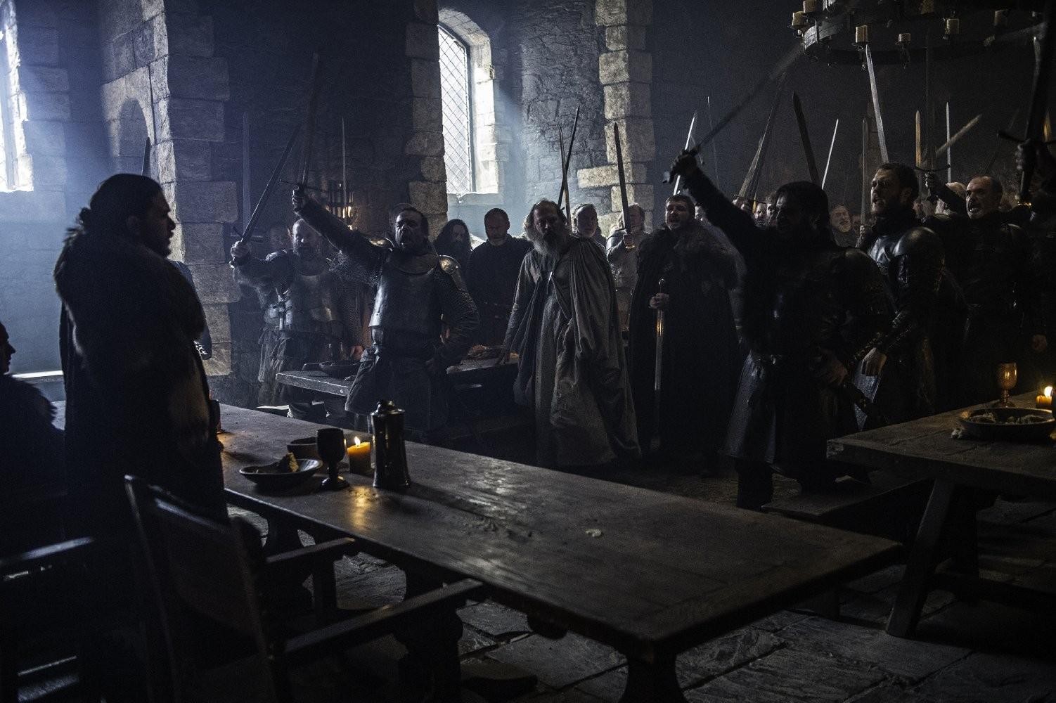 Jon Snow é aclamado como Rei do Norte (Foto: Divulgação/HBO)