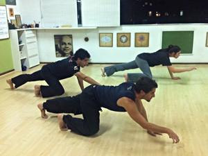 Felipe Haiut ganhou flexibilidade e força (Foto: Malhação / TV Globo)