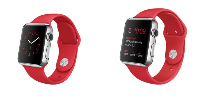287fcfdf054 Apple Watch para a campanha RED com pulseira vermelha (Foto  Divulgação  Apple)