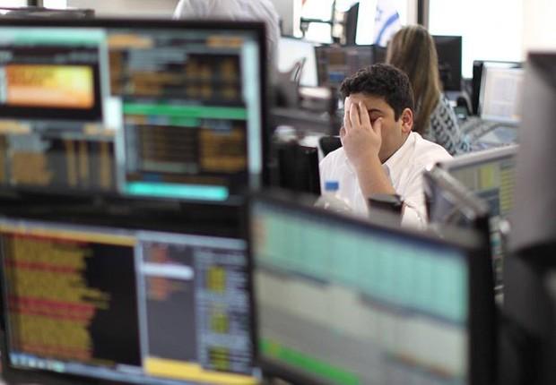 Corretora de valores de São Paulo em imagem de outubro de 2014 (Foto: Marcos Alves/O Globo/Arquivo)