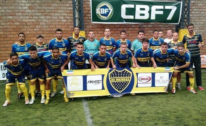 Equipe do Mendes representa o Espírito Santo na Copa do Brasil de Futebol 7 (Foto: Divulgação/Mendes)