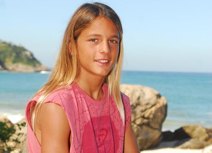 Em 'Três Irmãs', Brenno interpretou Zig, o pequeno surfista (Foto: João Miguel Júnior/TV Globo)