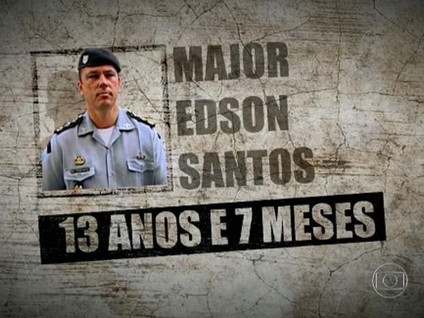 Major Edson foi condenado a 13 anos e 7 meses de prisão (Foto: Reprodução / Globo)