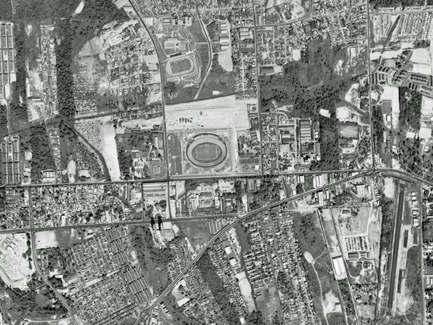 Arena Amazônia, em Manaus, em foto feita em agosto de 1990 (Foto: Google Earth)