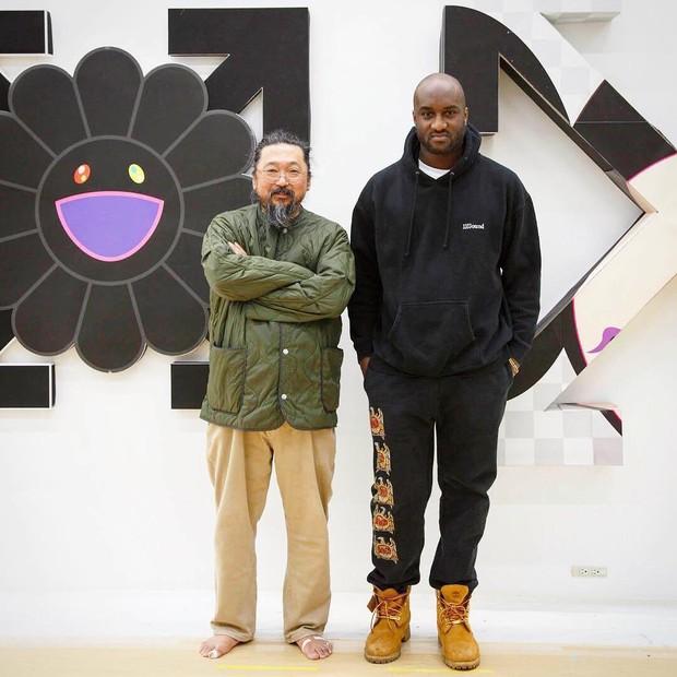 Takashi Murakami e Virgil Abloh (Foto: Reprodução/Instagram)