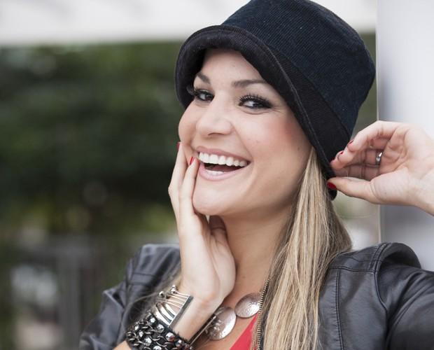 Letícia Weiss revela segredinhos de saúde e boa forma (Foto: Domingão do Faustão / TV Globo)