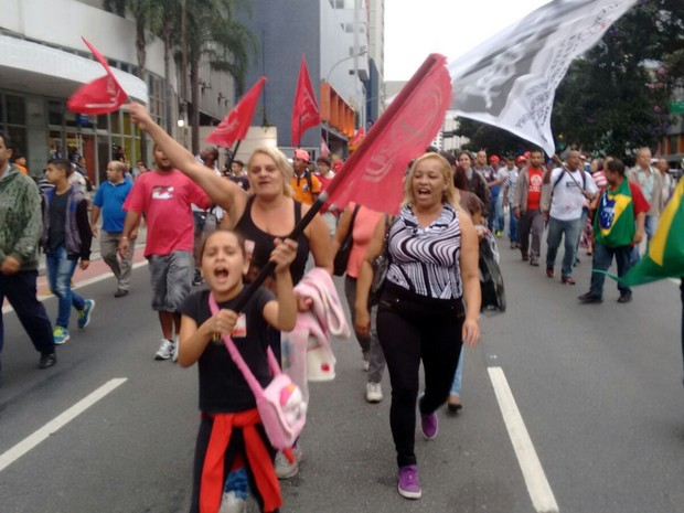 Manifestação desce a Rua da Consolação na tarde desta quarta-feira  (Foto: Karina Godoy/G1)