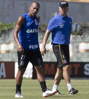 Emerson Sheik Mano Menezes Corinthians (Foto: Daniel Augusto Jr / Agência Corinthians)