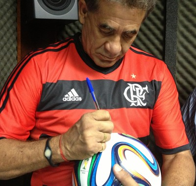 Ex-Flamengo, Nunes esteve no Tocantins para evento beneficente (Foto: Vilma Nascimento/GLOBOESPORTE.COM)