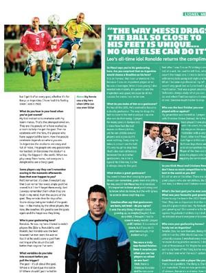 Messi revista Four Four Two (Foto: Reprodução)