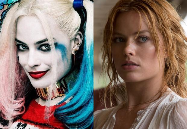 Margot Robbie em 'Esquadrão Suicida' e 'A Lenda de Tarzan' (Foto: Reprodução)