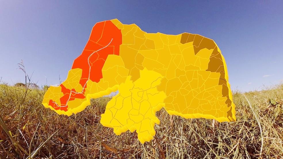 Mapa mostra o percurso feito por Lampião em terras potiguares (Foto: Reprodução/Inter TV Cabugi)