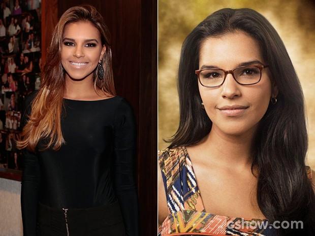 Confira o antes e depois dos cabelos de Mari Rios (Foto: Além do Horizonte/TV Globo)