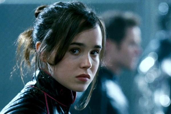 A atriz Ellen Page interpretando a heroína Kitty Pryde no filme dos X-Men (Foto: Reprodução)
