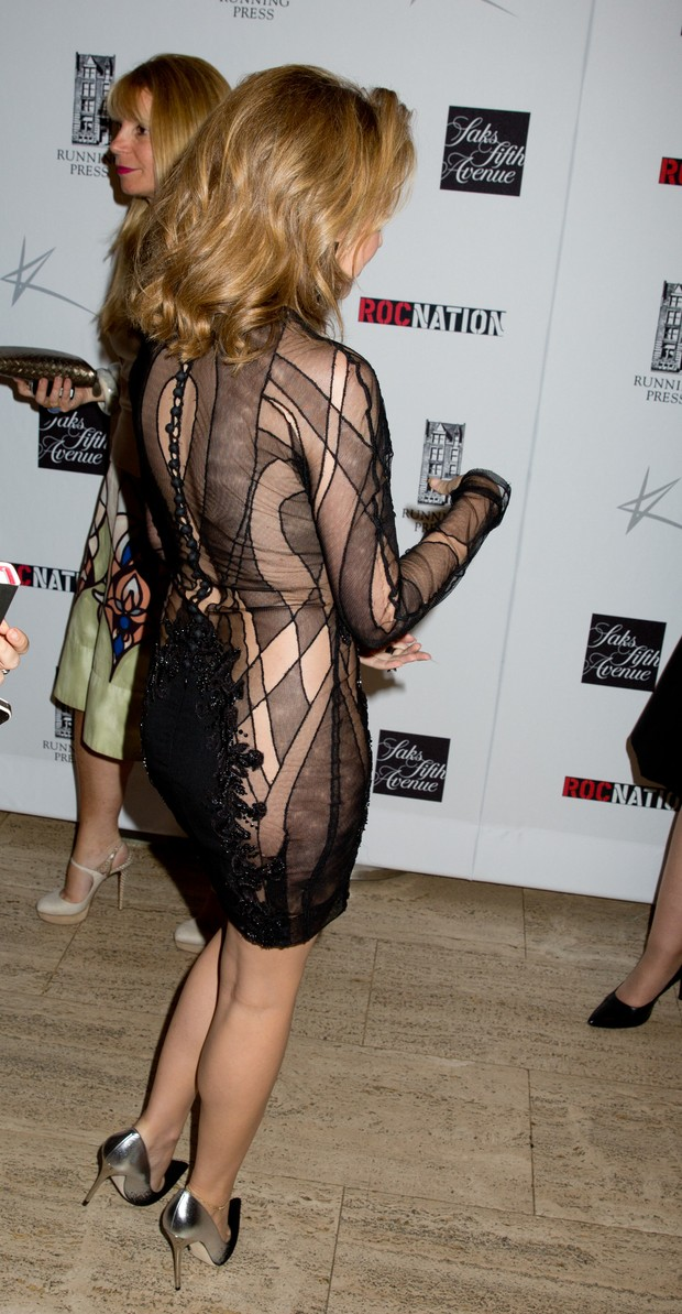 Kylie Minogue em evento em Nova York, nos Estados Unidos (Foto: Splash News/ Agência)