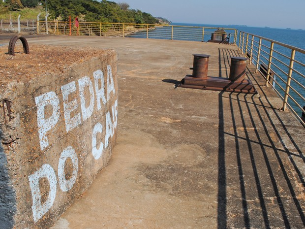 Movimentação no Porto de Presidente Epitácio é prejudicada pela ferrovia parada (Foto: Stephanie Fonseca/G1)