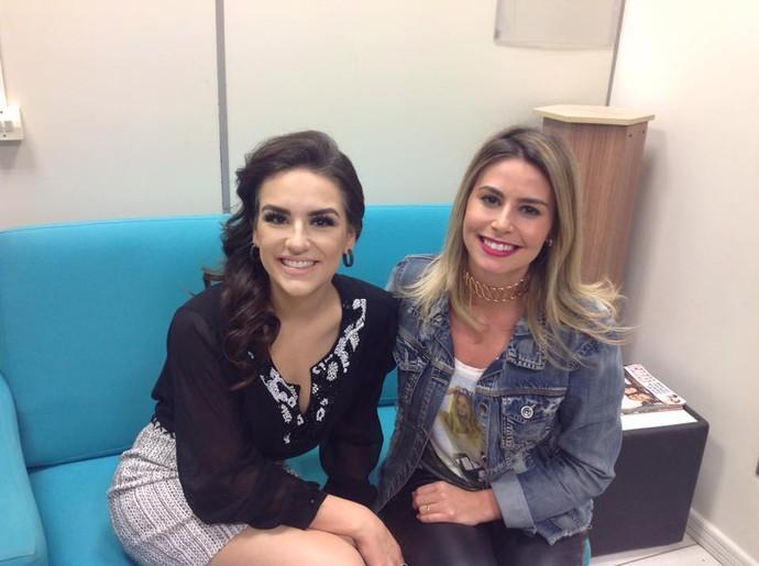 A dupla aprontou nos bastidores da RPC (Foto: Divulgação/RPC)