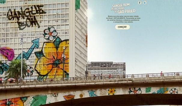Crie sua arte sobre locais famosos da cidade de São Paulo! Clique na imagem acima e descubra como (Foto: Globo)